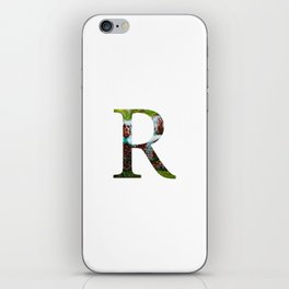 "Initital letter ""R"" iPhone Skin"