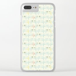 Cream multi cell shower curtain Clear iPhone Case