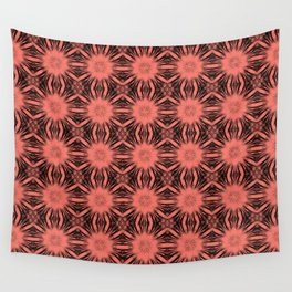 Peach Echo Floral Abstract Wall Tapestry