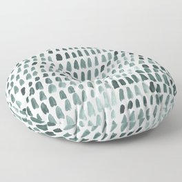 Teal and White Dots Pattern Floor Pillow