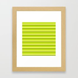 Lime Green Stripes Framed Art Print