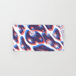 Offset Universe Blue and Red Hand & Bath Towel