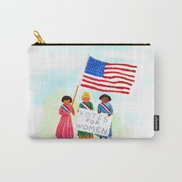 Watercolor Suffragettes Carry-All Pouch