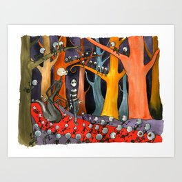 The Forest of Mirrors Art Print