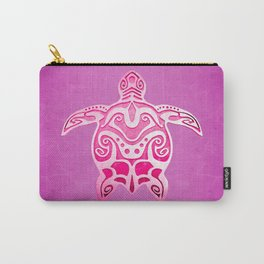 Pink Tribal Turtle Carry-All Pouch