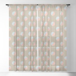 Yin + Yang Pattern Sheer Curtain