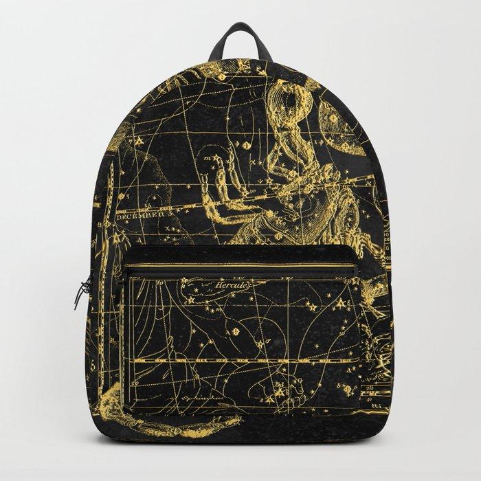 Scorpio Constellation, Astronomy, Astrology, Vintage Engraving Map Rucksack