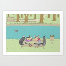 We Need To Talk Art Print