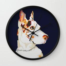 Maverick the Great Dane - Pet Portrait Wall Clock