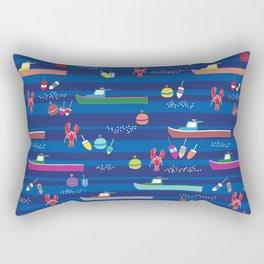 Lobster Boats Rectangular Pillow
