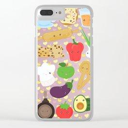 Cute food Clear iPhone Case