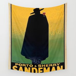 1931 Portugal Port and Sherry Sandeman Aperitif Advertisement Poster Wall Tapestry