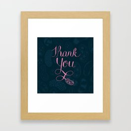 Science themed thank you Framed Art Print
