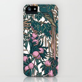 Walter Crane's Macaws and Fruit iPhone Case