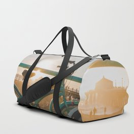 Bike & Beach in Sunny Manhattan Beach, California Duffle Bag