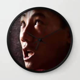 Chanting Monk Wall Clock