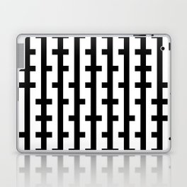 Black and White Bars Laptop & iPad Skin
