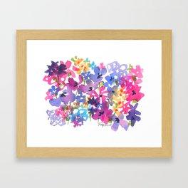 Fancy Florets Framed Art Print