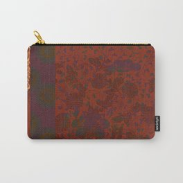 Caravans II:  Asian Print  Plum, gold, orange green origami textile floral design Carry-All Pouch