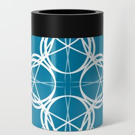 Blue White Swirl Can Cooler
