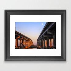 Between The Causeway Framed Art Print