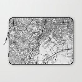 Tokyo White Map Laptop Sleeve