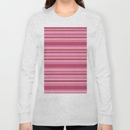 Pink & Yellow Stripes Long Sleeve T-shirt