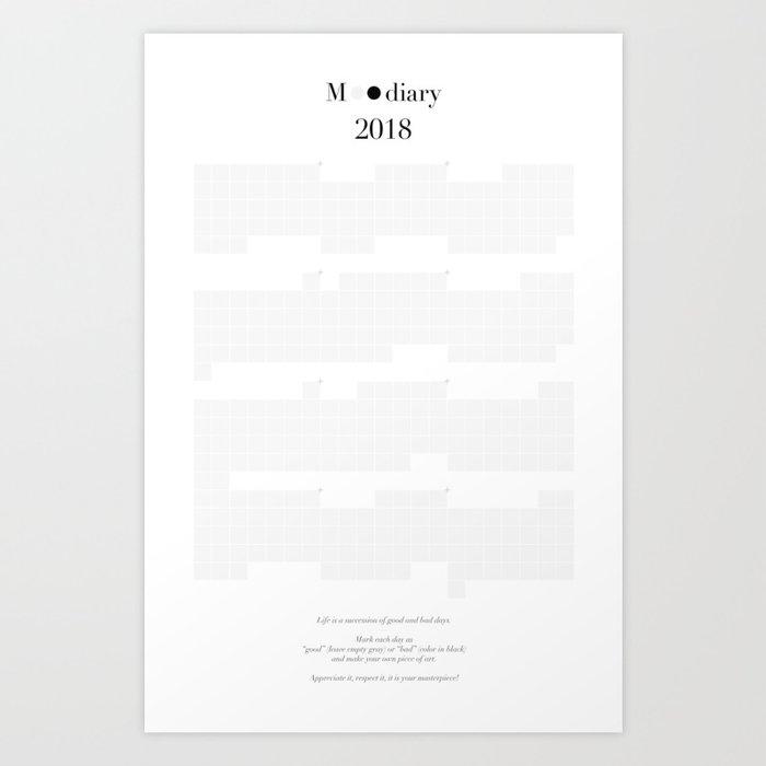 Moodiary 2018 Art Print