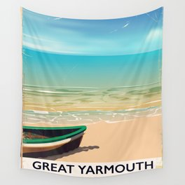 Great Yarmouth, Norfolk, Seaside travel poster Wall Tapestry