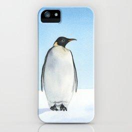 Penguin Watercolor iPhone Case