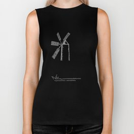 mill on white background Biker Tank