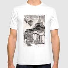 French Collage v2 Mens Fitted Tee White MEDIUM