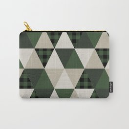 Hunter Green camping cabin glamping cheater quilt baby nursery gender neutral Carry-All Pouch