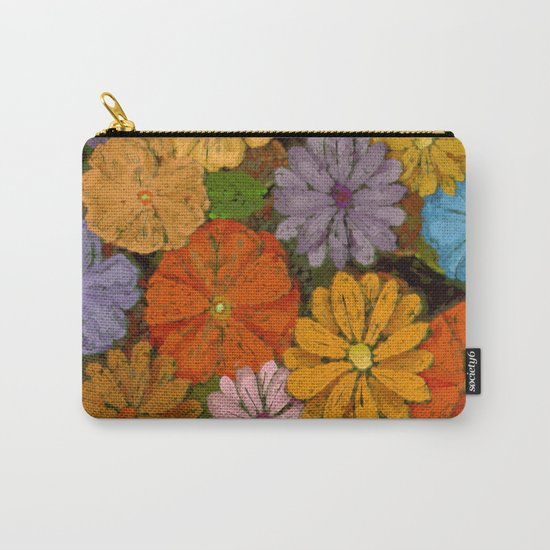 Abstract #422 Flower Power #7 Carry-All Pouch