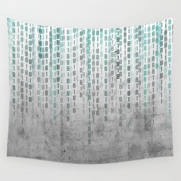 Concrete Binary Code Wall Tapestry