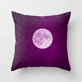 Pink Moon Dust Throw Pillow
