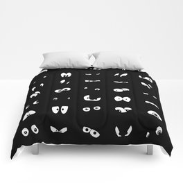 The Eyes Have It (black) Comforters