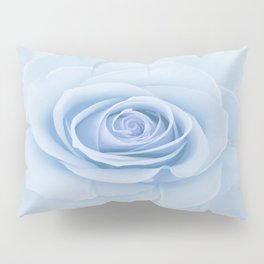 Soft Baby Blue Rose Abstract Pillow Sham