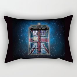 Union Jack Public Phone Booth Rectangular Pillow