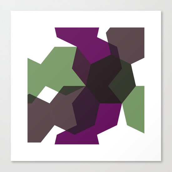 #365 Clash of heptagons – Geometry Daily Canvas Print