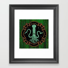Squids in Space! Framed Art Print