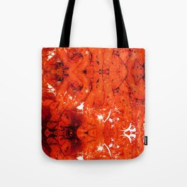 Red Abstract Art - Linked - By Sharon Cummings Tote Bag
