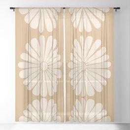 Retro Daisy XVI Sheer Curtain