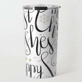 Holiday Background Travel Mug