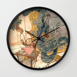 Hearts, Keys & Puppetry Wall Clock