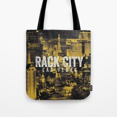 Black Yellow Cool Rack City Las Vegas Photography Tote Bag