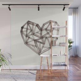 Wooden Heart Wall Mural