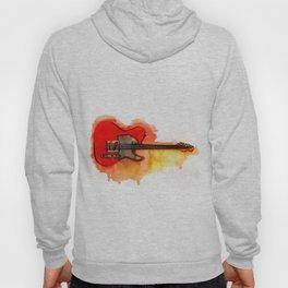 Watercolor guitar Hoody