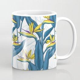 Bird of paradise flowers on white Coffee Mug