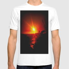 As the Sunsets SMALL White Mens Fitted Tee